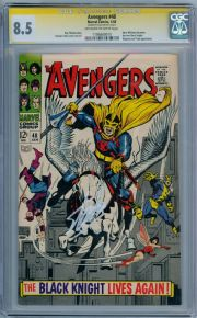 Avengers #48 (1968) CGC 8.5 Signature Series Signed Stan Lee 1st App Black Knight Marvel comic book